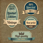 Retro vintage design high quality — Vector de stock