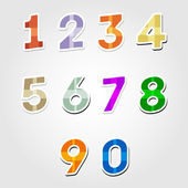 Vector set of number — Stock Vector