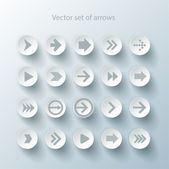 Conjunto de ícones de sinal de seta — Vetorial Stock