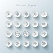 Set di icone segno di freccia — Vettoriale Stock