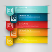 Colorful number option banners — Stockvector