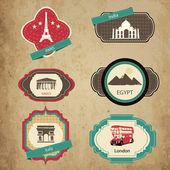 Vintage travel icons — Stockvektor
