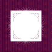 Vintage frame on violet background — Stock Vector