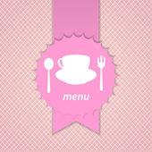 Pink frame menu design — Stock Vector