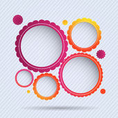Collection of circle frames — Stock Vector