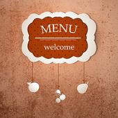 Vintage frame menu design template — Stock Vector