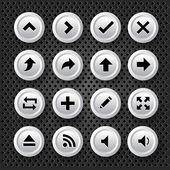 стрелки иконы set — Cтоковый вектор