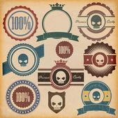 Odznaki jakości vintage premium — Wektor stockowy
