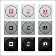 Set of media  buttons. — Stock Vector