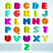 Multicolored blocks alphabet.  — Stock Vector