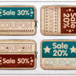 Retro vintage badges and labels. — Vettoriali Stock