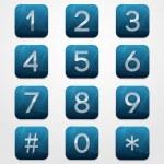 Telephone Keypad — Stock Vector
