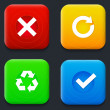 Arrows icons set. — Imagen vectorial