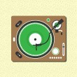 Record Player — Stock Vector