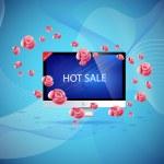 Hot sale concept — Stock Vector