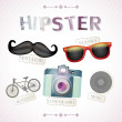 Hipster vector elements — Stock Vector