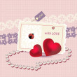 Valentines Card Vector - Stock Vector