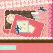 Valentine's Day scrapbook elements - Imagen vectorial