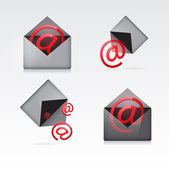 Set vector e mail icon — Stock Vector