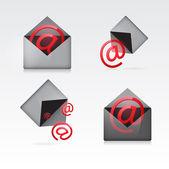 Set vector e mail icon — Stock Vector