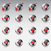 Vector icons set — Stock Vector
