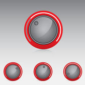 Volume treble bass knobs — Stock Vector