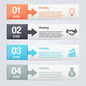 Steps process arrows. — Stockvector