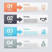 étapes du processus flèches. — Vecteur