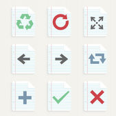 Arrows icons set. — Vector de stock