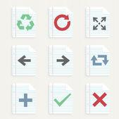šipky ikony nastavit. — Stock vektor