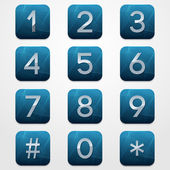 Telephone Keypad — Stock Vector