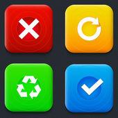 Pijlen icons set. — Stockvector