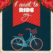 I Want to Ride My Bike — Stock Vector