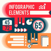 Business infographic elements — Stock Vector