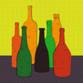 Colorful bottles — Stock Vector