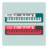 Synthesizer vector — Stock Vector