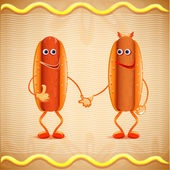 Two hotdogs — Stock Vector