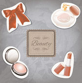 Cosmetic Set — Stock Vector
