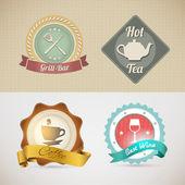 カフェやレストランのためのウェブサイトのデザイン テンプレート — ストックベクタ