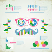 Hipster infographic — Stock Vector