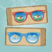 Retro gözlük — Stok Vektör