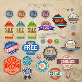 Vintage discount and high quality labels — Stock Vector