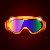 Kayak sporu gözlük — Stok Vektör