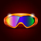 Ski sport glasögon — Stockvektor