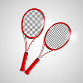Tennis rackets — Stockvektor