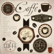 Vintage Retro Coffee stamp — Stockvektor