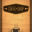 Coffe shop label — Stockvectorbeeld