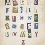 Sketched alphabet set — Stock Vector