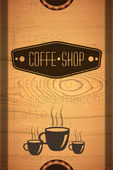 Coffe shop label — Stock Vector
