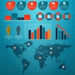 zestaw retro Infografika — Wektor stockowy